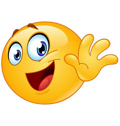 bye emoticon vector image