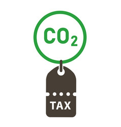 Carbon tax price label co2 emissions vector