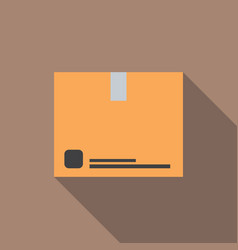 Cardboard box with long shadow vector