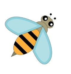 Cartoon bee character design vector image