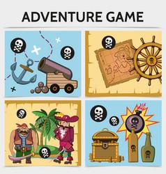 cartoon mobile game concept vector image