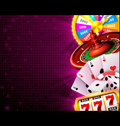 Casino dice banner signboard on background vector