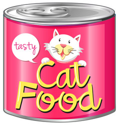 Cat food with pink label vector