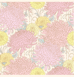 chrysanthemums pattern vector image