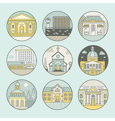City architecture emblems vector