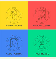 Cleaning service banners vector
