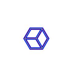 cube logo design concept vector image