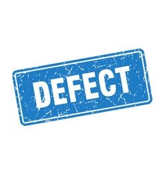 Defect stamp defect vintage blue label sign vector