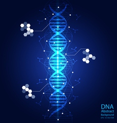dna abstract light blue background vector image