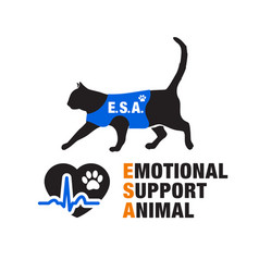 emotional support animal emblems vector image