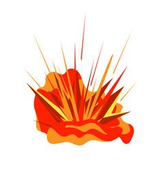 explosion burst isolated on white background vector image