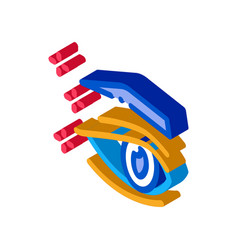 Eyelid surgery result isometric icon vector