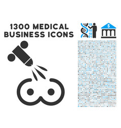 Female tits sperm ejaculation icon with 1300 vector