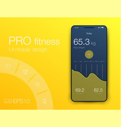 Fitness app ui ux design ui design concept with vector