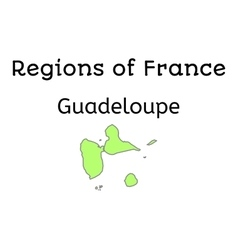 France administrative map of guadeloupe vector