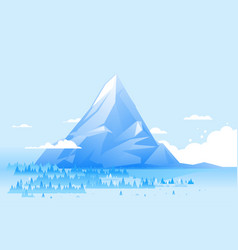 geometric high mountain landscape vector image