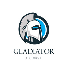 gladiator head logo design vector image