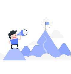 Goal achievement concept vector