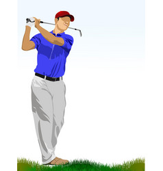 Golf players vector
