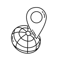google maps icon doodle hand drawn or outline vector image