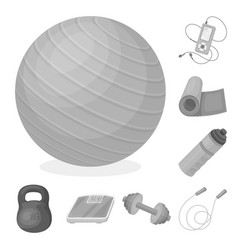 gym and training monochrome icons in set vector image