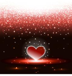 Heart with sparkles rain vector image