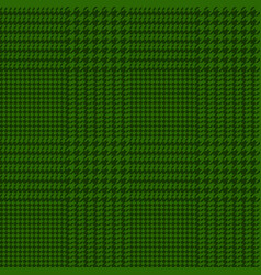 Houndstooth seamless green pattern vector
