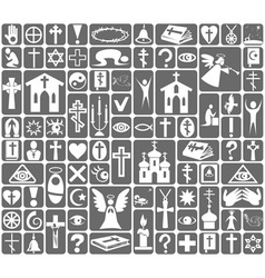 Icons religion vector