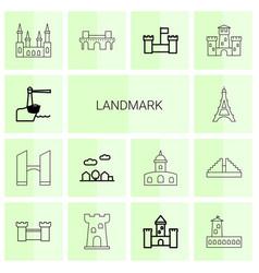 Landmark icons vector