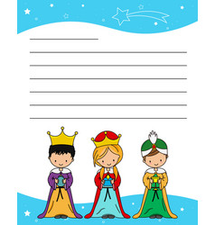 Letter three wise men vector