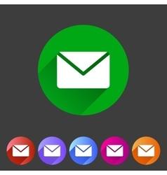 Mail post envelope icon flat web sign symbol logo vector