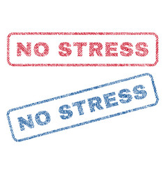 No stress textile stamps vector