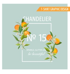 Orange Fruits Graphic Design T-Shirt Fashion Print vector