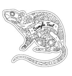 Rat Outline vector image