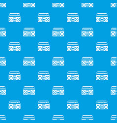 recorder pattern seamless blue vector image