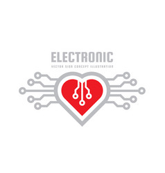 red heart - logo template concept vector image