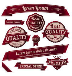 retro guarantee label set vector image vector image