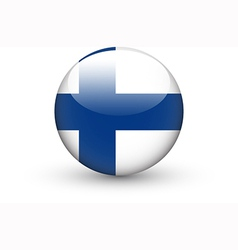 Round icon with national flag of Finland vector