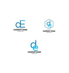 set de initial letter logo design template vector image