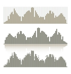 Set of graphic equalizers on a white background vector image