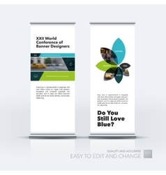 Set of modern roll up banner stand design vector