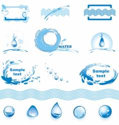 Set of water design elements vector