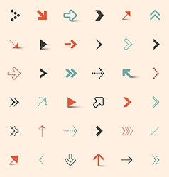 Simple Arrows Set vector image