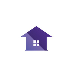 simple glassy purple house logo template vector image