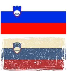 Slovenian grunge flag vector image