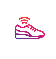 Smart shoe icon linear vector