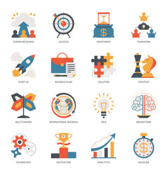 startup business icon start up vector image
