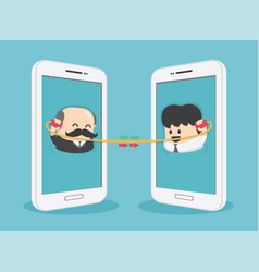two business people are negotiating a business vector image