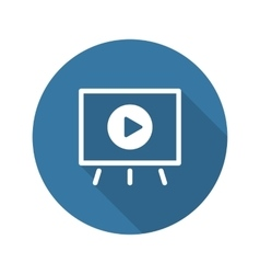 Video Presentation Icon Business Concept Flat vector image