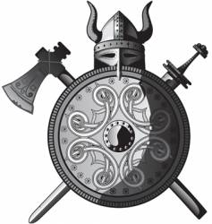Vikings icon vector